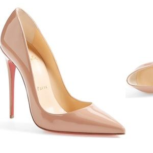 Christian louboutin so kate pointy toe nude 37